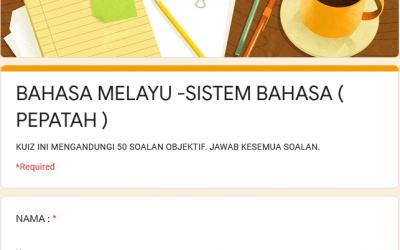 Latihan tatabahasa Bahasa Melayu – Peribahasa (PEPATAH)