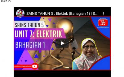 Kuiz Sains Tajuk Elektrik Tahun 5