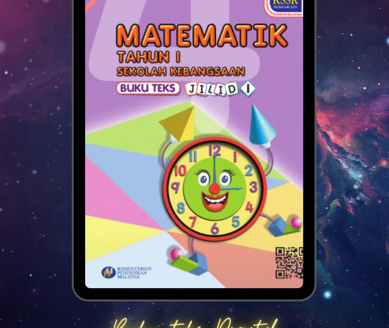 Buku Teks Digital Matematik Tahun 1 Jilid 1 Sekolah Kebangsaan