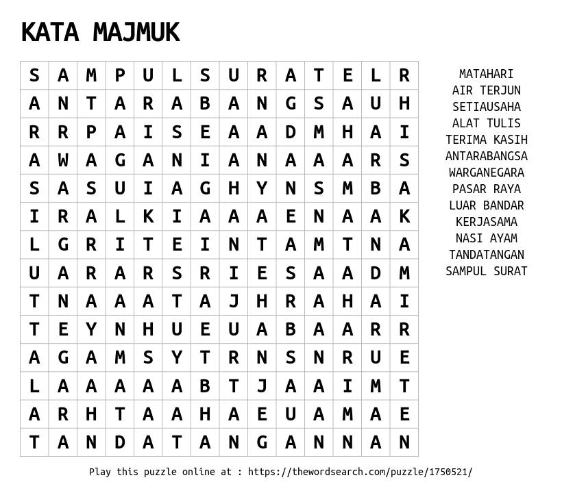 kata-majmuk
