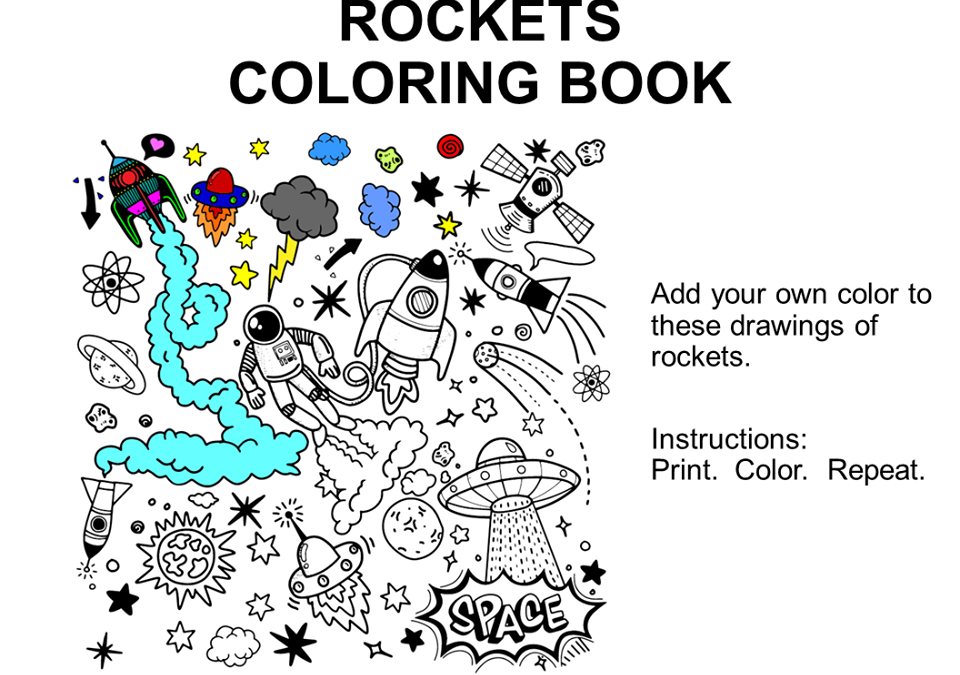 Let's Have Fun With Rocket Coloring