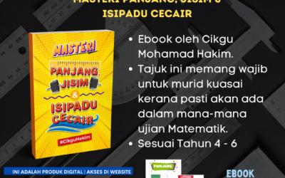 Ebook Masteri Panjang, Jisim dan Isipadu Cecair Cikgu Hakim
