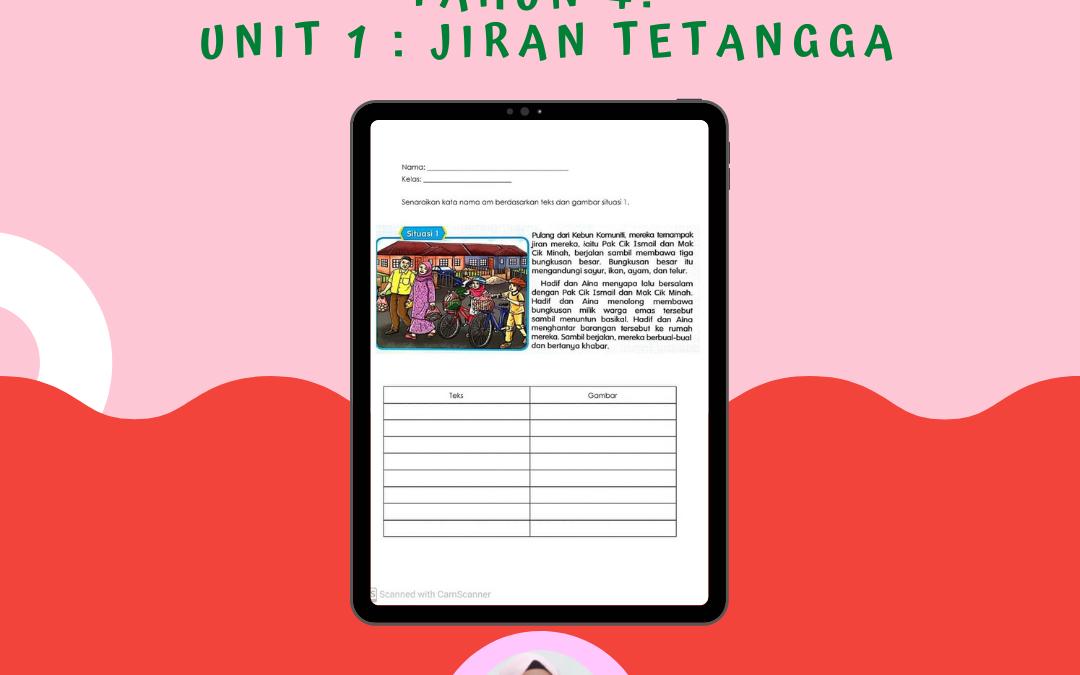PDPR  Bahasa Melayu Tahun 4 – Unit 1 : Jiran Tetangga – Cikgu Nariza