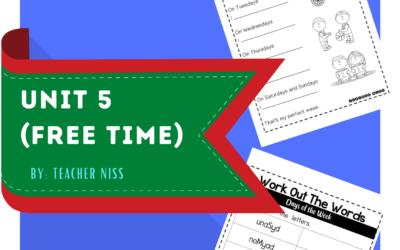 English Year 2 – Unit 5 (Free Time) Worksheets.