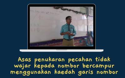 Asas Penukaran Pecahan Tidak Wajar Kepada Nombor Bercampur Menggunakan Kaedah Garis Nombor oleh Cikgu Mohd Fadli Salleh