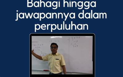 Video Teknik Bahagi Hingga Jawapannya Dalam Perpuluhan oleh Cikgu Mohd Fadli Salleh