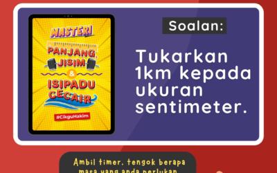 Masteri Ukuran Bantu Anak Skor Topik Panjang, Jisim dan Isipadu Cecair.