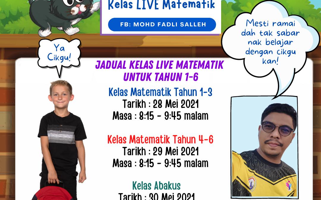 Kelas Live Matematik sudah kembali!