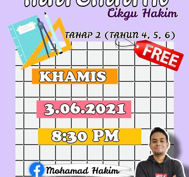 Kelas FB Live Power Matematik Tahun 4, 5 dan 6 Oleh Cikgu Mohamad Hakim