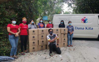 Penghantaran Bantuan ke Perkampungan Orang Asli Kemensah Yang Terputus Bekalan Makanan.