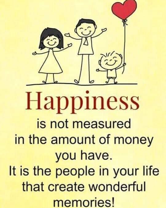 Bahagia tidak diukur dengan berapa duit yang kamu ada