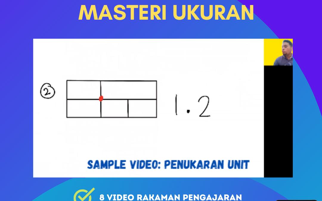 Ini merupakan sampel bagi salah satu dari 8 video Masteri Ukuran