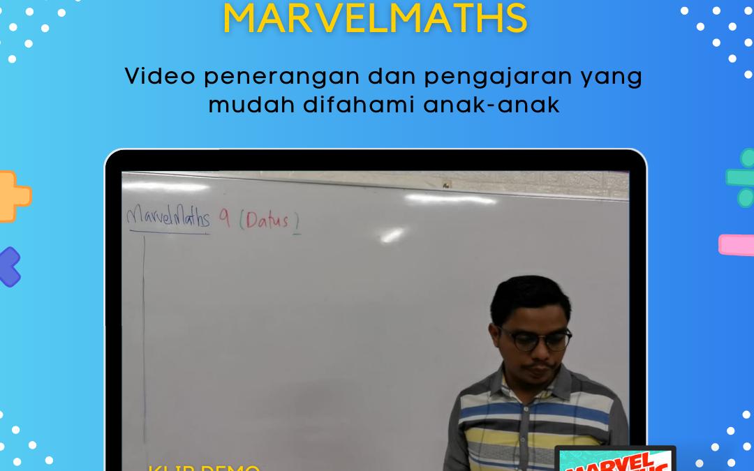 Ebook Marvelmaths direka khas untuk menarik minat anak-anak kepada matematik.
